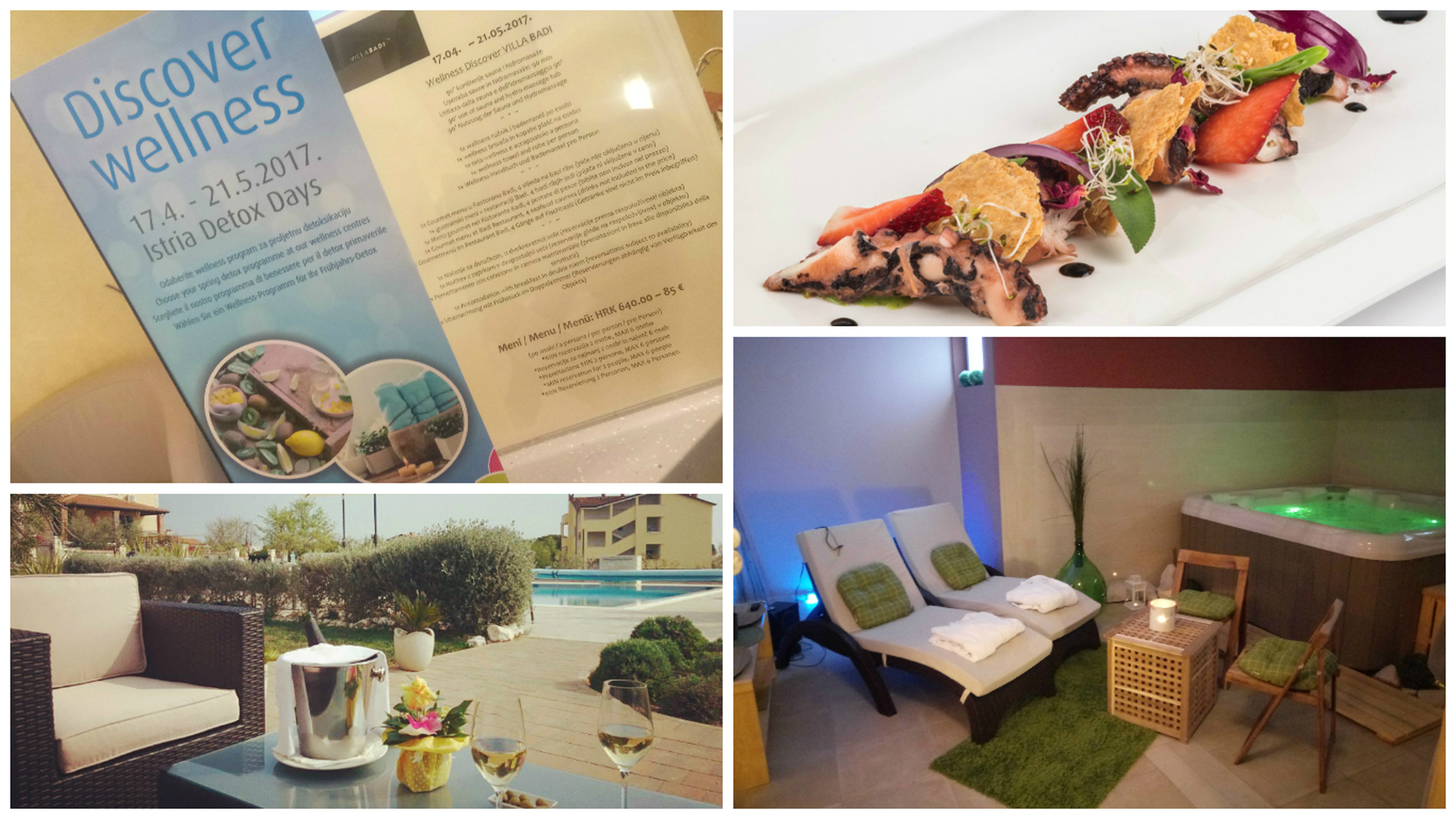 Wellness paket villa badi lovrečica umag istra restoran badi sauna hidromassage fine dining detox